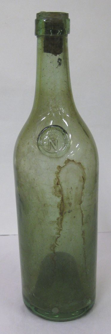 H5120-5 Bottle, part of collection, Napoleon brandy, glass, maker unknown, place of production unknown, acquired 1950