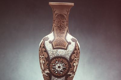 2860 Vase, 'silicon' stoneware, made by Doulton & Co, decorated by Eliza Simmance, Lambeth, England, 1883