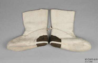 85/2455-8 Boot, 'Mukluk', wool / textile, used by the Australian National Antarctic Research Expedition, Mawson Base, Antarctica, 1966