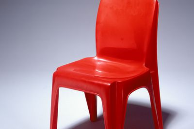 86/842 Chairs (4), 'Integra', stackable, moulded polypropylene, designed by Charles Furey & Associates for Sebel Ltd., made by Sebel Ltd., Australia, 1973-1986