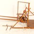Image 1 of 1, B1600 Model of McCormick's reaper. Invented and constructed by Cyrus Hall McCormick, Steels Tavern, Virginia, USA, in 1831, width 21', height 22', length 27', without shafts, with shafts 4'5'. 1/4 full size (SB).. Click to enlarge