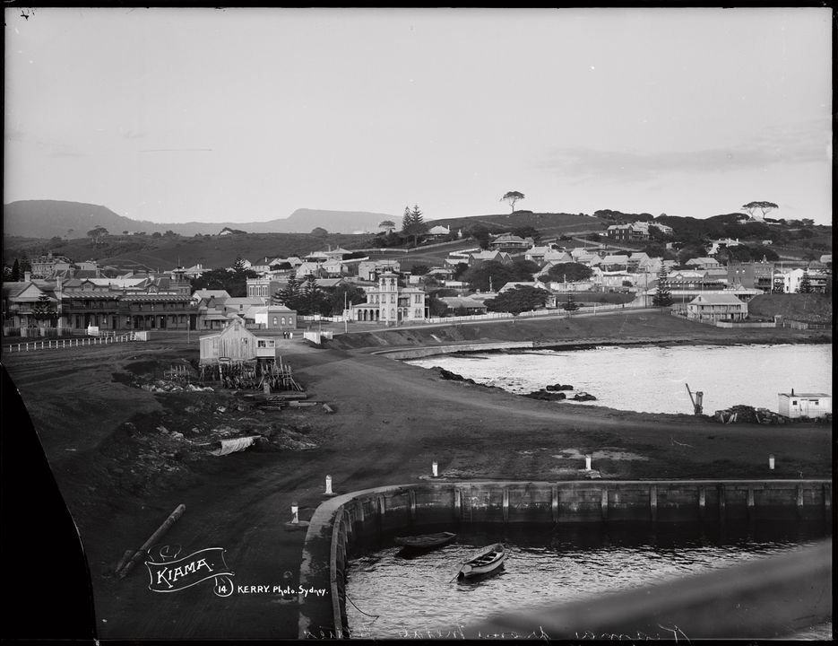 85/1284-7 Glass plate negative, full plate, 'Kiama', silver gelatin, made by Kerry and Co, Sydney, New South Wales, Australia, c. 1905-1917. Click to enlarge.