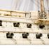 Image 41 of 46, H5217 Ship model in case, 72 gun French Frigate warship, possibly representing the 74 gun 'Le Heros', bone / wood / perspex, made by a Napoleonic prisoner-of-war, c. 1800. Click to enlarge