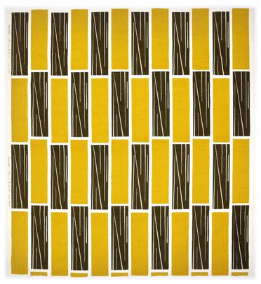 85/2253 Textile length, 'Staccato', screen-printed cotton, designed by Frances Burke, manufactured by Frances Burke Fabrics Pty Ltd, Richmond, Victoria, Australia, 1949