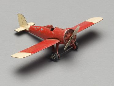 2008/158/1-11 Toy aircraft (1 of 6), part of collection, 'Low-Wing Monoplane (60d)', metal, Meccano Ltd, Liverpool, England, 1934-1940, used Wyatt family, Hobart, Tasmania / Roseville, New South Wales, Australia, 1935-1942