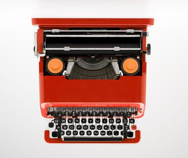 2003/13/1 Typewriter and case, 'Valentine', metal / plastic / rubber, designed by Ettore Sottsass and Perry King , made by Ing C Olivetti & C SpA, Barcelona, Spain, 1969