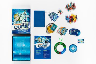 2020/76/1 Game, 'Pandemic: The Cure', plastic / paper / cardboard, designed by Matt Leacock, published by Z-Man Games, United States of America, made in China, 2014-2020