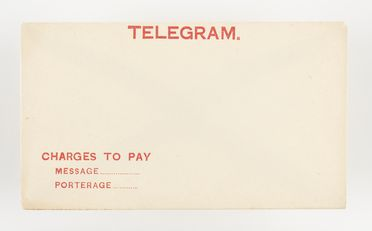 98/2/78-11/1 Telegram envelope (1 of 16), 'Charges to pay', paper / ink, Australia Post / Postmaster Generals Department, Australia, 1883-1987
