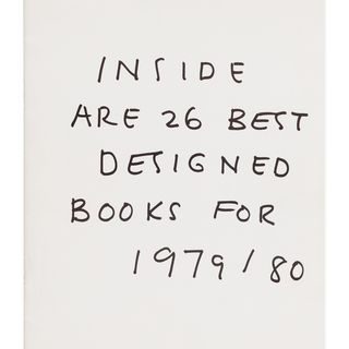 2013/135/1-21 Catalogue, 'Inside are the best designed books for 1979/80', paper, designed by Arthur Leydin for the Australian Book Publishers Association Book Design Awards, published in Sydney, New South Wales, Australia, 1980
