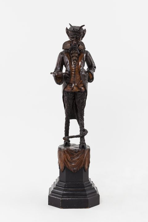 A5121 Hall figure, Mr Devil (one of a pair), stained and ebonised wood, attributed to Francesco Toso, Venice, Italy, 1875-1890. Click to enlarge.