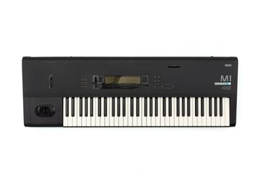 2021/44/1 Keyboard instrument and cable, Korg M1 synthesiser, plastics / rubber / metal / electronic components, designed and manufactured by Korg, Japan, 1988
