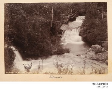 2013/23/12-9 Photographic positive, meeting of the waters, Leura, silver gelatin / paper, photographer unknown, Blue Mountains, New South Wales, Australia, 1893-1920