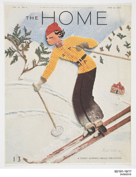 92/191-19/17 Print, colour proof, paper, for cover of 'The Home' magazine, collage design by Dahl Collings, Sydney, New South Wales, Australia, 1 June 1935. Click to enlarge.