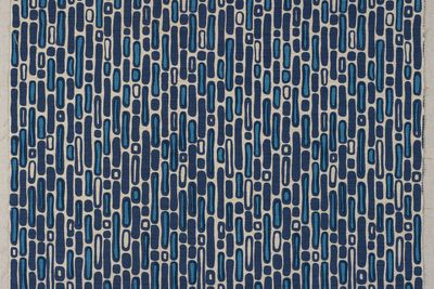 85/2269 Fabric piece, 'Reflections', screenprinted, Frances Burke Fabrics Pty Ltd, Victoria, Australia, 1960