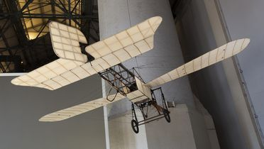 L611 [WEB APPROVED] Aircraft, full size, Bleriot XI monoplane, wood / canvas / metal, designed by Louis Bleriot, made by Bleriot Aeronautique, Levallois, Paris, France, 1914, flown by Maurice Guillaux with first Australian airmail from Melbourne to Sydney in 1914