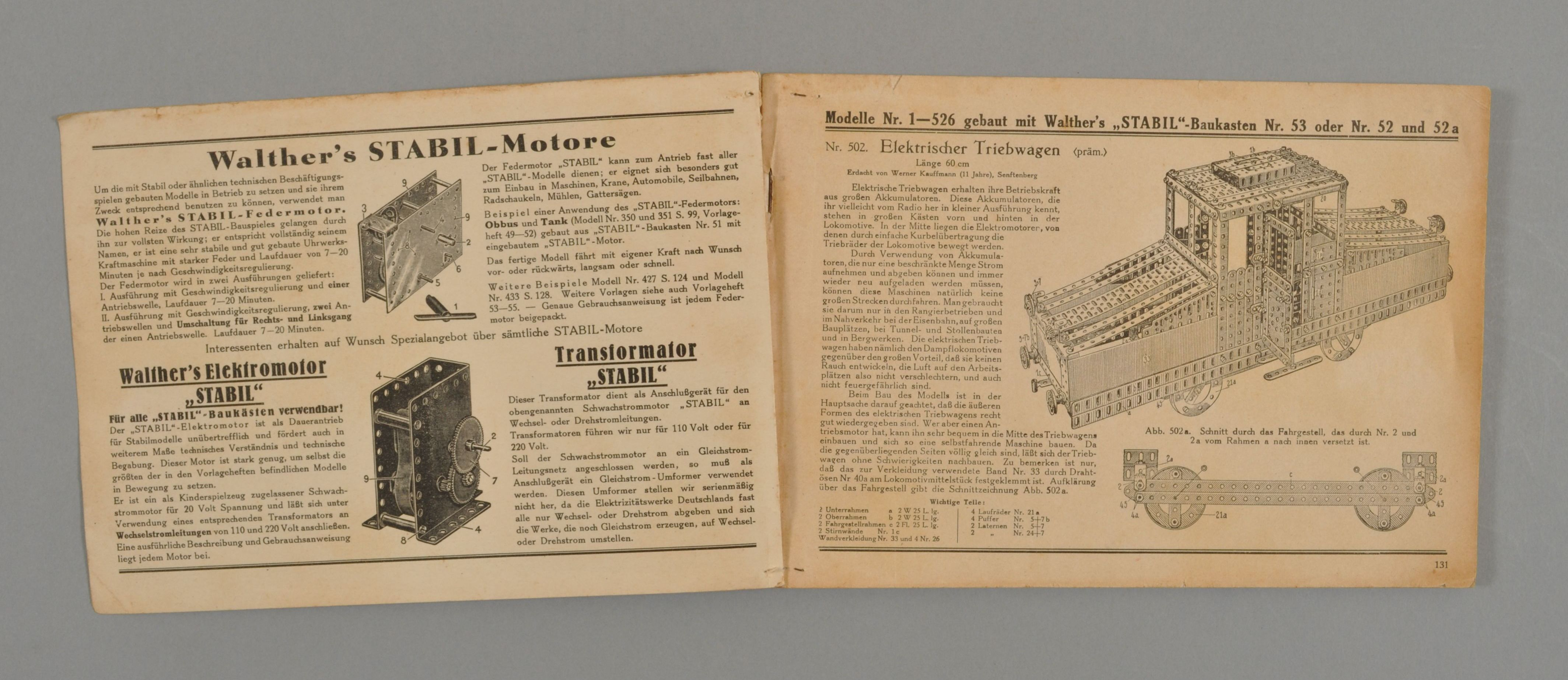 Instruction book for Stabil models - MAAS Collection