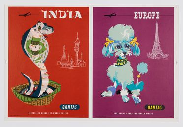 2014/117/1-5 Travel posters (3), animal series, colour lithograph on paper, designed by Harry Rogers, printed by Tom Rawson, Sydney, New South Wales, Australia, 1955-1975