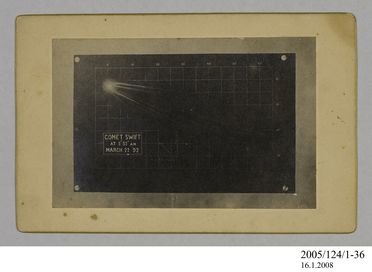 2005/124/1-36 Photograph, part of collection owned by James Short, black and white, Comet Swift, mounted, card / paper, photographed by James Short, Sydney, New South Wales, Australia, 1892