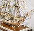 Image 9 of 46, H5217 Ship model in case, 72 gun French Frigate warship, possibly representing the 74 gun 'Le Heros', bone / wood / perspex, made by a Napoleonic prisoner-of-war, c. 1800. Click to enlarge