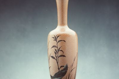 2836 Vase, stoneware, designed by Florence E. Barlow, made by Doulton and Co, Lambeth, London, England, 1883