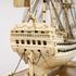 Image 17 of 46, H5217 Ship model in case, 72 gun French Frigate warship, possibly representing the 74 gun 'Le Heros', bone / wood / perspex, made by a Napoleonic prisoner-of-war, c. 1800. Click to enlarge