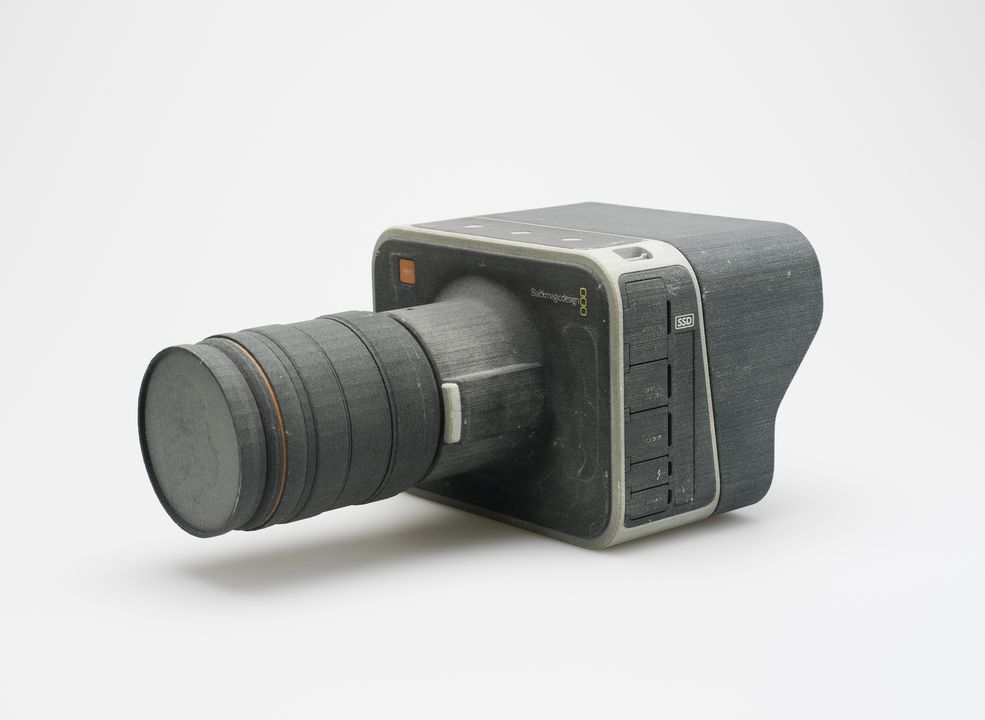 2014/80/2 Blackmagic cinema camera prototype, plaster, designed and made by Blackmagic Design, Port Melbourne, Victoria, Australia, 2011-2012. Click to enlarge.