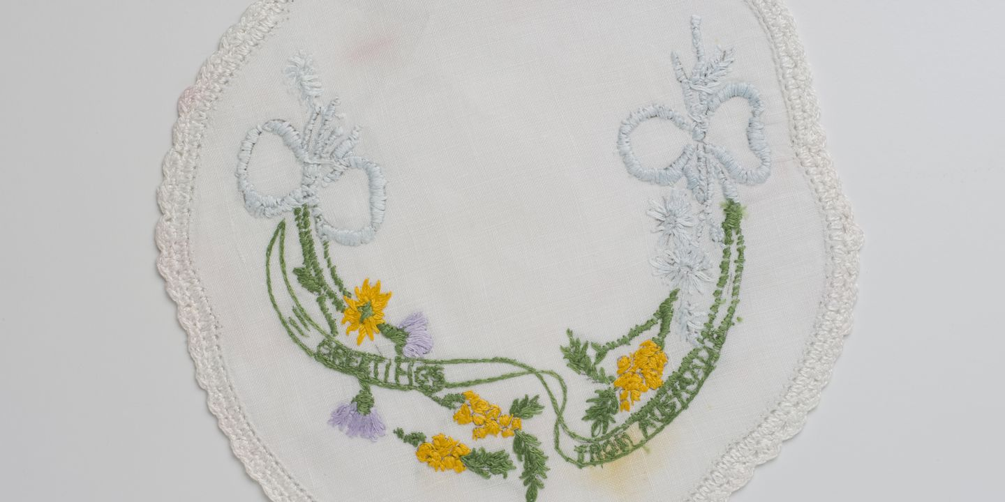 Embroidered Doily Greetings From Australia Maas Collection