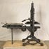 Image 1 of 8, H3408 'Albion' printing press, hand operated, iron, made by A. Wilson and Sons, London, England, 1850, used by Sir Henry Parkes to print the 'Empire' newspaper, Sydney, 1850 - 1856; later used by Messrs. Craigie and Hipgrave to print the 'Express' newspaper, Armidale, New South Wales, Australia. Click to enlarge