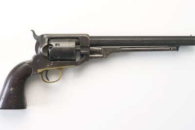 H9677 Revolver, Whitney, Percussion 27488 (AF). Revolver, percussion, Whitney [USA], with South Australian police markings (OF).