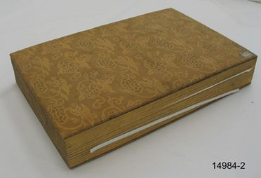 14984-4 Swatch book (1 of 4), textile / card / paper, maker unknown, Ikeda, Kyoto, Japan, c. 1887