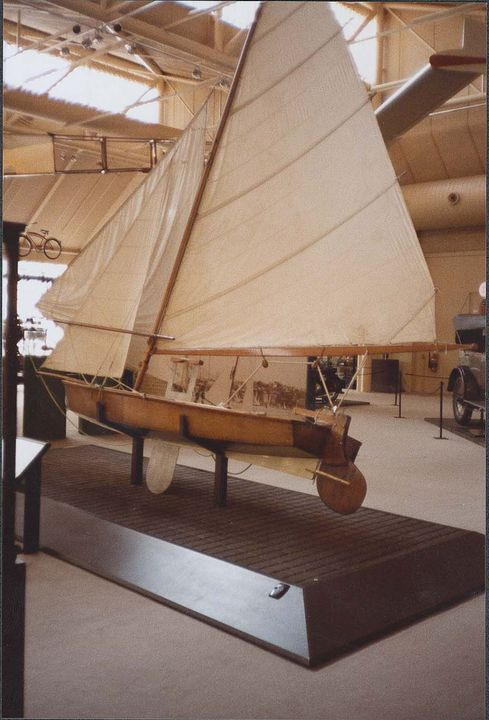 B2359 Sailing boat, full size, VJ (Vaucluse Junior), 'Giselle', designed by Charles E. Sparrow, Rose Bay, New South Wales, Australia, 1931, made in New South Wales c.1955, used in Sydney in 1950s and 1960s. Click to enlarge.