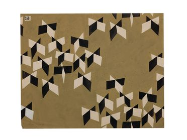 92/191-16/4 Textile design, gouache on paper, designed by Dahl Collings, New York, United States of America / Sydney, New South Wales, Australia, 1950-1953