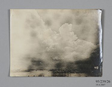 95/239/26 Photographic copy print, storm clouds over the harbour taken from Sydney Observatory, paper / silver gelatin emulsion, photographer Jmaes Short and Henry Chamberlain Russell, Sydney, New South Wales, Australia, 1900-1940