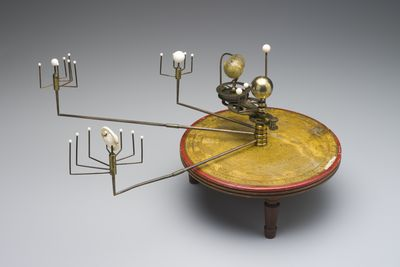 H1700-2 [WEB APPROVED] Orrery (1 of 2), planetary, wood / brass / ivory, W.Harris & Co, England, 1789- c.1805