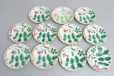 2005/201/56 Plates (11), porcelain, made by Royal Worcester Porcelain Co Ltd, England, c. 1770