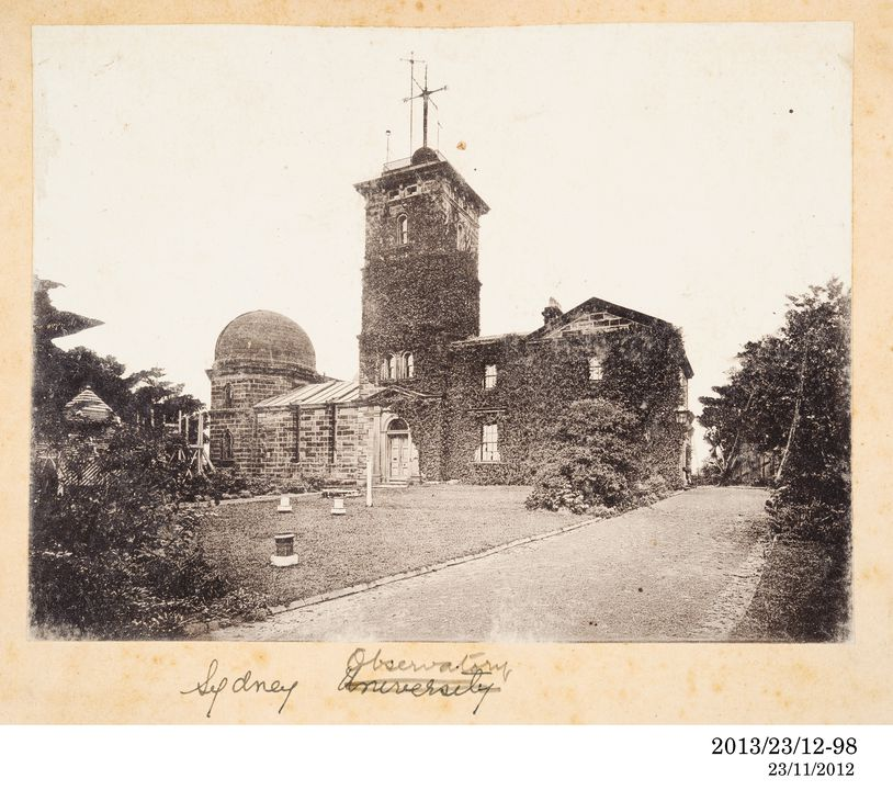 2013/23/12-98 Photographic positive, Sydney Observatory, silver gelatin / paper, photographer unknown, Sydney, New South Wales, Australia, 1893-1920. Click to enlarge.
