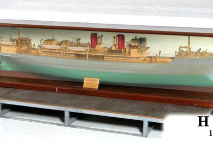 Pulganbar' half-ship model - MAAS Collection