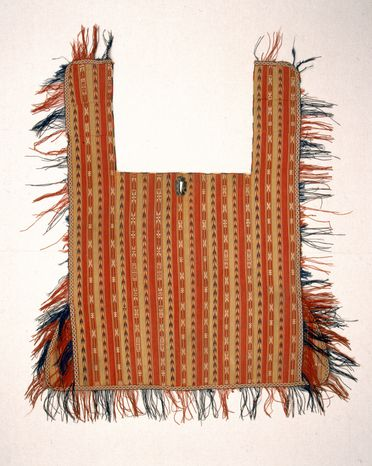 A9970 Horse cover, goat and camel hair, plain weave with warp-float (jajim) patterning, made by Yomut Turkmen women, Turkmenistan, Central Asia, c.1900