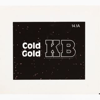 86/4549-2 Film separation, KB Cold Gold slogan, polyethylene, designed by Pieter Huveneers for Tooth and Company Limited, Sydney, New South Wales, Australia, 1977-1979