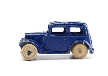 2008/158/1-6 Toy car (1 of 6), part of collection, 'Saloon (35a)', metal, Meccano Ltd, Liverpool, England, 1934-1940, used Wyatt family, Hobart, Tasmania / Roseville, New South Wales, Australia, 1935-1942