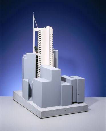 97/190/4 Architectural model and supporting material, Capita Centre/9 Castlereagh Street, designed by Harry Seidler and Associates, Arcmod Models Pty Ltd/Max Dupain & Associates Pty Ltd, Sydney, New South Wales, Australia, 1984