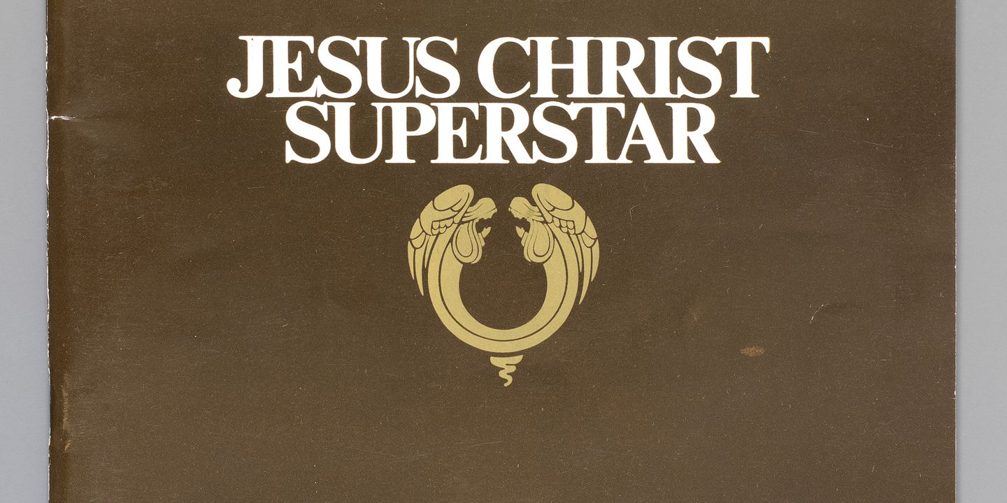 2012/26/3 Program, 'Jesus Christ Superstar', paper, made for Harry M Miller by Land Printers Pty Ltd, Lidcombe, New South Wales, used by Norma Keech, Australia, 1972. Click to enlarge.