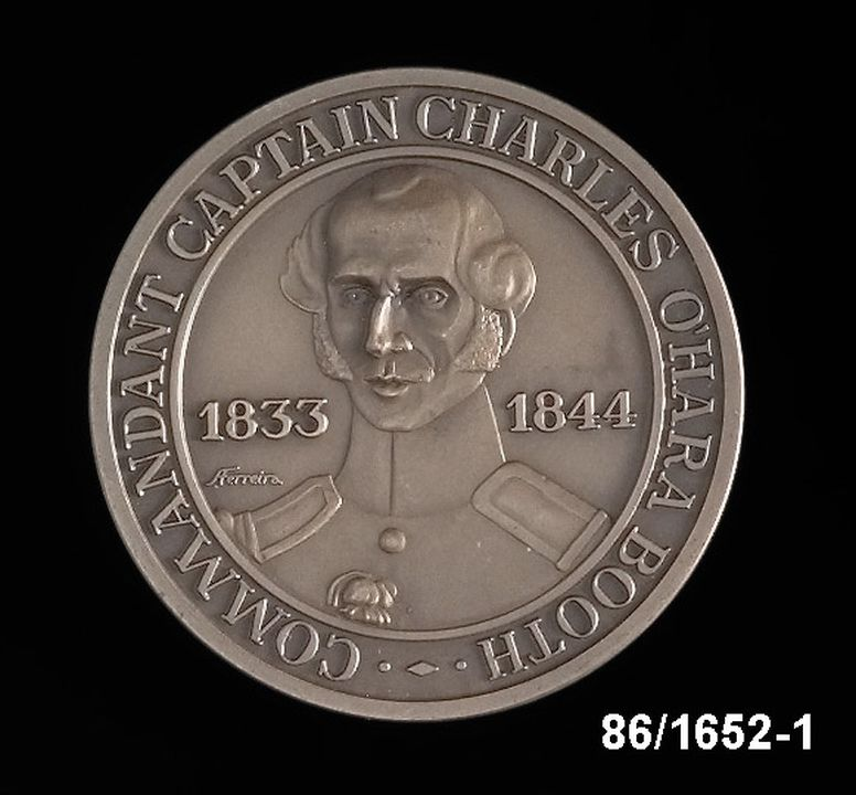 86/1652-1 Medallion, Captain Charles O'Hara Booth.. Click to enlarge.