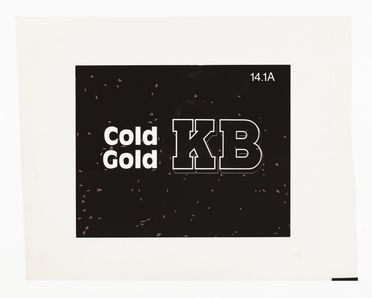 86/4549-2 Film separation, KB Cold Gold slogan, polyethylene, used by Pieter Huveneers for Tooth and Company Limited, Sydney, New South Wales, Australia, 1977-1979
