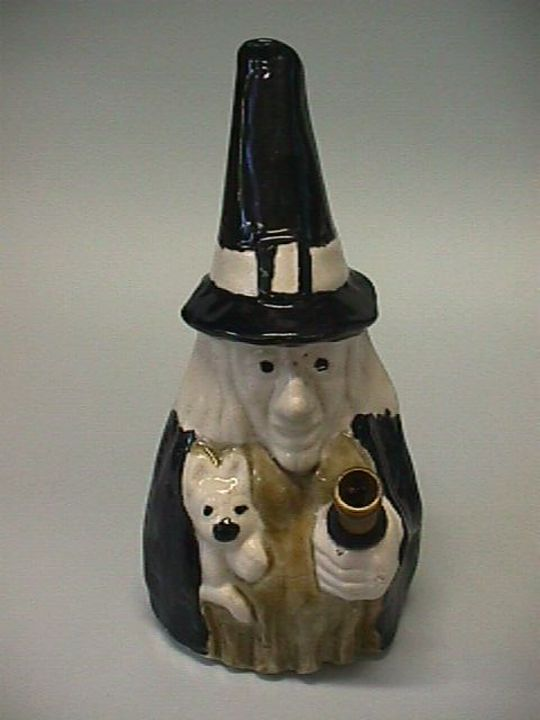 2004/161/1 Bong (water pipe), witch design, ceramic / metal, maker unknown, c. 1980. Click to enlarge.