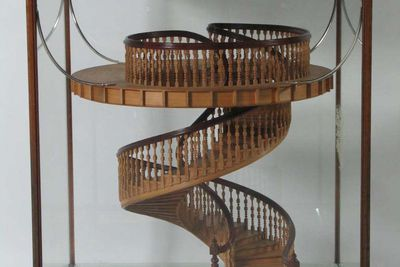 D6632 Model of self-supporting spiral staircase, timber, made by A. Meiklejohn, Newtown, New South Wales, Australia, 1903