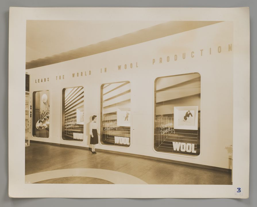 2008/100/1-3 Photograph (3 of 10), Australian Pavilion, New York World's Fair 1939, photographed by Robert E. Coates, New York City, New York, United States of America, for the architectural firm Stephenson & Turner, Sydney, New South Wales, Australia, 1939. Click to enlarge.