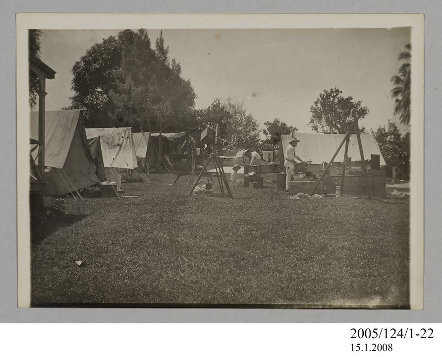 2005/124/1-22 Photograph, part of collection owned by James Short, black and white, Tahiti eclipse expedition, paper, photographer unknown, Tahiti, 1908. Click to enlarge.