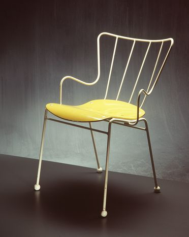 85/1840 Chair, 'Antelope', wood & metal, designed by Ernest Race, made by Ernest Race Ltd, England, 1951
