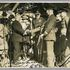 Image 1 of 2, 85/112-39 Photograph, black and white, handing over of the Southern Cross, paper, photographer unknown, Richmond, New South Wales, Australia, 1935. Click to enlarge